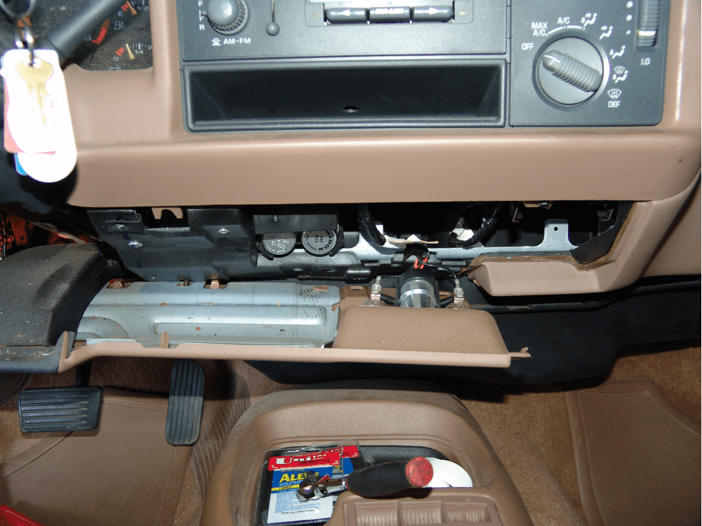 the location of the turn signal flasher on a 1997 buick