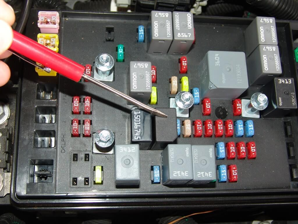 chevrolet trailblazer fuse box